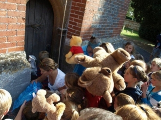 Opening of Church Extension and Teddy Bear Parachute Drop - 14